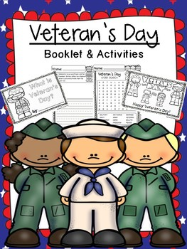 Veteran's Day & Remembrance Day - Booklet and Activities - Low Prep!