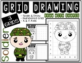 Veteran's & Memorial Day SOLDIER (Draw with Shapes) Grid D
