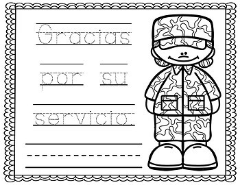 Veterans day- SPANISH FREEBIE
