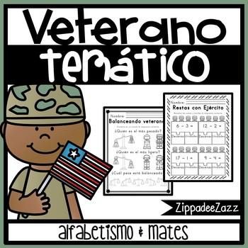 Veterano temático alfabetismo and mates / Veteran themed Literacy and Math WS