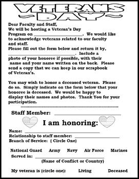 Veterans Day- Dog Tag Craftivity