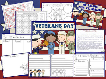 Veterans Day Research Activities and Graphic Organizers