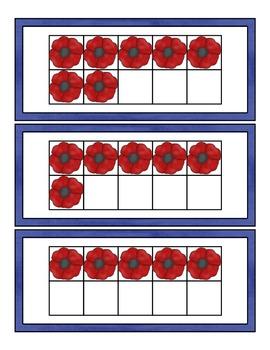 Veterans Day 10 Frame Center ~ CCSS Aligned