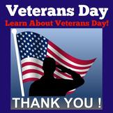 Veterans Day PowerPoint | Veterans Day Activities | Vetera