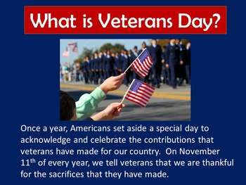 Veterans Day PowerPoint Lesson