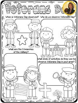 Veterans Day by Lori Flaglor | Teachers Pay Teachers