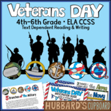 Veterans Day Writing / Veterans Day Activities / Close Reading (4th-6th)