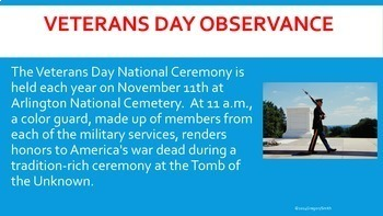Veterans Day - How and Why We Celebrate Veterans Day PowerPoint