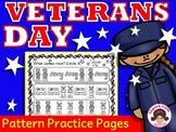 Veterans Day Activities Math Patterns