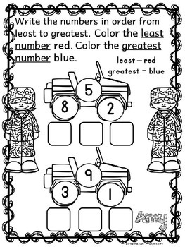 Veterans Day Math Worksheets
