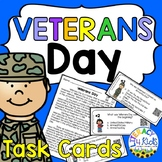 Veterans Day Task Cards and Informational Passage