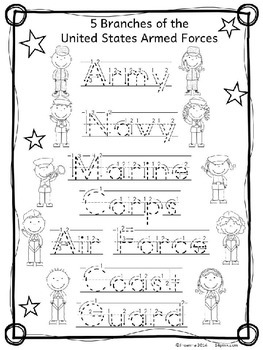 Veterans Day Worksheets For Kindergarten