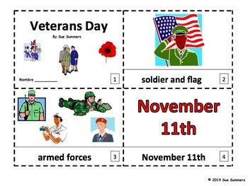 Veterans Day - 2 Emergent Reader Booklets