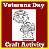 Veterans Day Craft | Veterans Day Activity | Veterans Day Craftivity