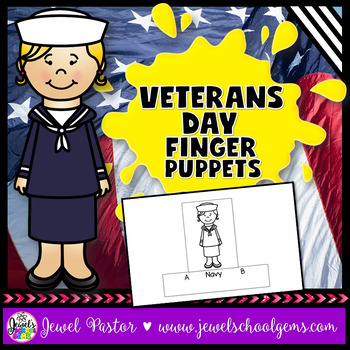 Veterans Day Crafts (Finger Puppets)