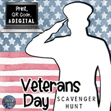 Veterans Day - Informational Text and Scavenger Hunt