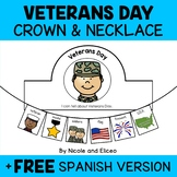 Veterans Day Activity Crown and Necklace