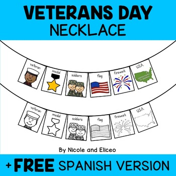 Necklace Craft - Veterans Day Activity