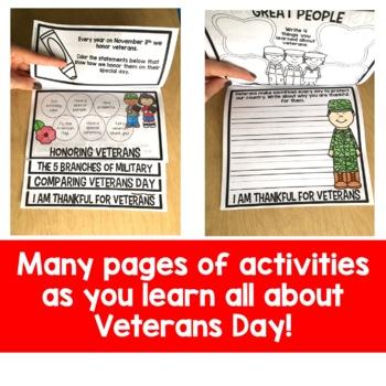 Veterans Day Flip Up Book