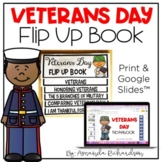 Veterans Day Activities Flip Up Book