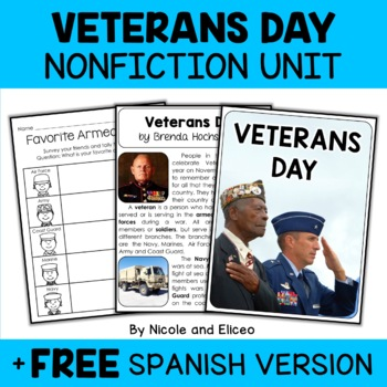 Nonfiction Unit - Veterans Day Activities