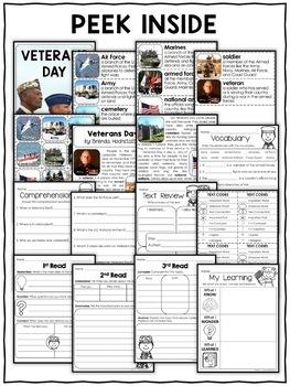 Veterans Day Activities Nonfiction Unit