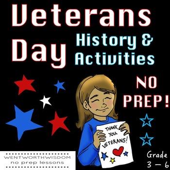 Veterans Day Activities Veterans Day Writing Veterans Day Reading