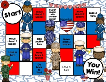 Memorial Day & Veterans Day Activity: Armed Forces Reading Game