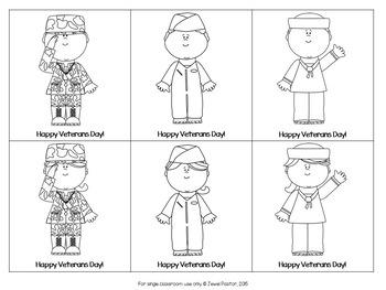 Veterans Day Crafts (Stick Puppets)