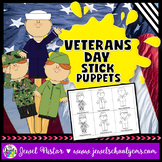 Veterans Day Crafts (Stick Puppets)