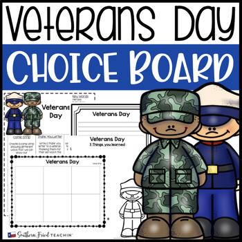 Veterans Day Choice Board