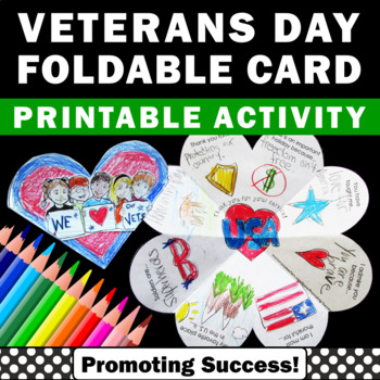 Veterans Day Craft, Foldable Card, Veterans Day Card for Kids to Make