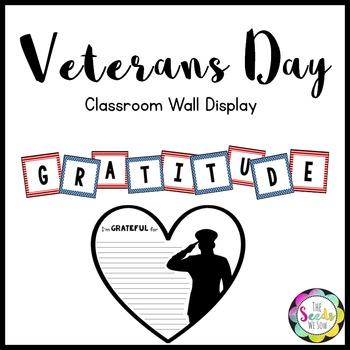 Veterans Day Wall Display