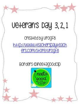 Veteran's Day 3, 2, 1