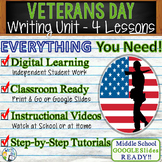 Veterans Day   Writing Unit 4 Essay Activities Resources   Print and Digital