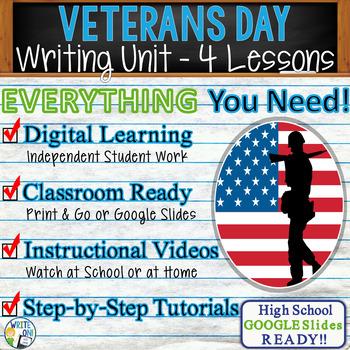 Veterans Day Writing BUNDLE! - Argumentative, Persuasive, Expository, Narrative