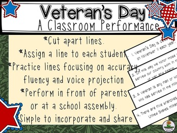 Veterans' Day Performance. Honor Veterans in a Unique Way.
