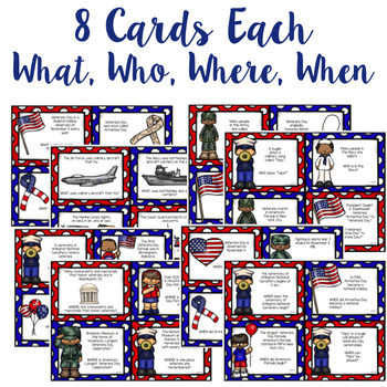 Veterans Day - A WH- Questions Game
