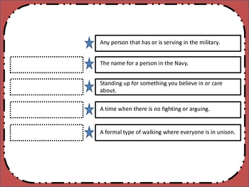 Veteran's Day Across the Curriculum
