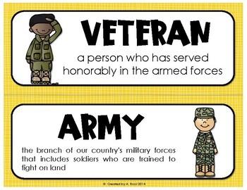 Memorial Day/Veterans Day Unit