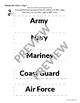 Veterans Day Activities - ABC Order Sort & Bookmarks