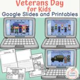 Veterans Day Activities / Google Slides / Writing Template