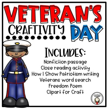 Veterans Day Activities - Nonfiction reading and craft booklet