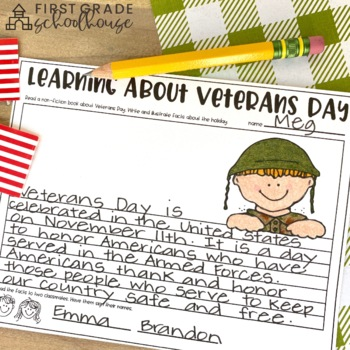 Veterans Day Activities and Craft by First Grade Schoolhouse | TpT