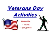 Veterans Day Activities Power Point use to guide Word Doc