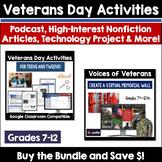 Veterans Day Activities & Technology Project Resource Bundle for Teens & Tweens