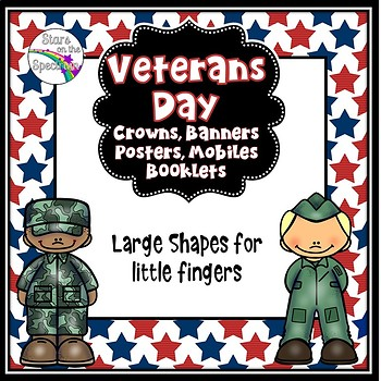 Veterans Day Crafts  - Veterans Day Crowns, Banners and Mobiles