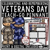 Thank You To Veterans Day Activity • Teach- Go Pennants™ [Remembrance Day]
