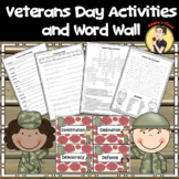 Veterans Day Word Search Activities