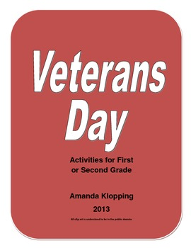 Veterans Day Activities for First or Second Grade